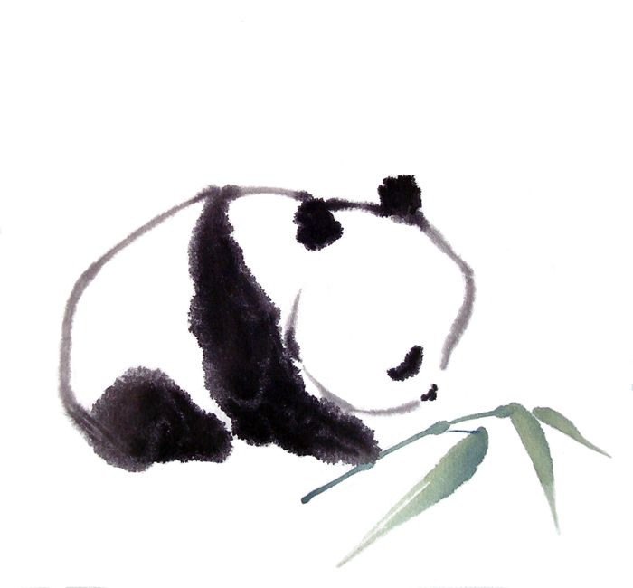afternoon snack by Cindy Pon (YA author & Chinese Brush artist) SO CUTE