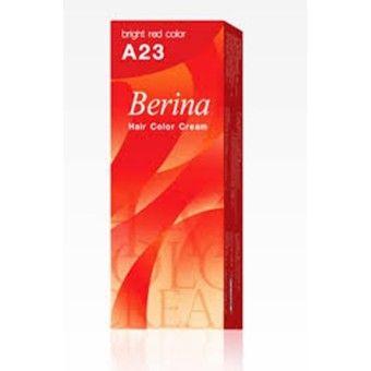 ซื้อ Berina A23 เบอริน่า สีแดงสด ครีมเปลี่ยนสีผม 60 ML.1 กล่อง