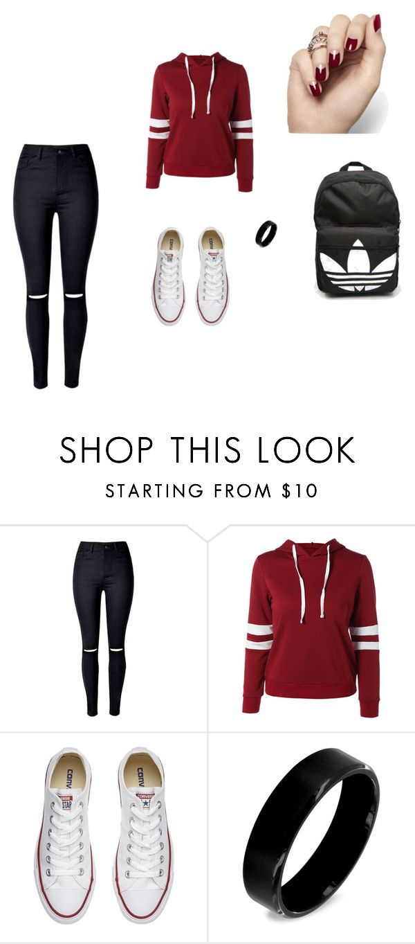 """""""everyday"""" by heddastoltnielsen on Polyvore featuring Converse, West Coast Jewelry and adidas"""