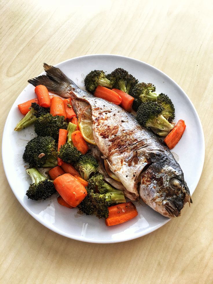 Oven Baked Dorada With Vegetables