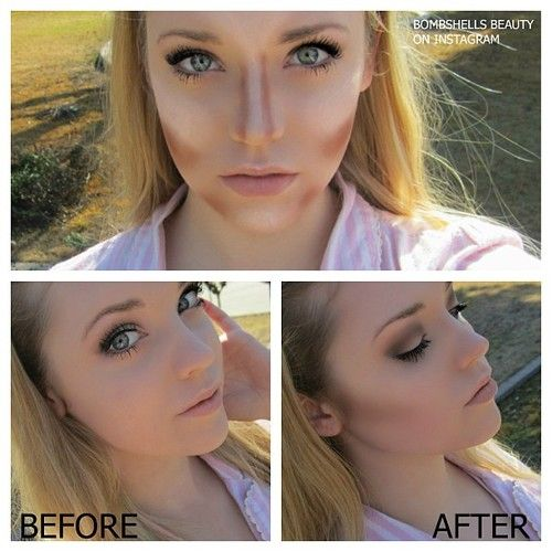 More contouring highlighting using Too Faced Chocolate Soliel bronzer and Benefit's High Beam