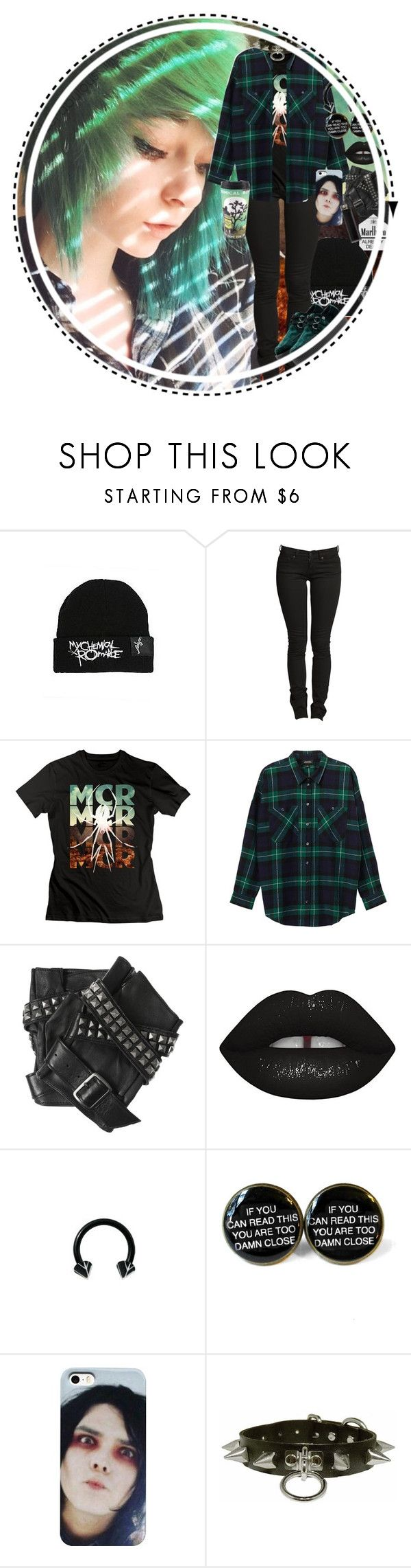 """Untitled #770"" by chemicalfallout249 on Polyvore featuring Hot Topic, Monki, Karl Lagerfeld, Lime Crime, T.U.K., black, emo, scene, bands and alternative"
