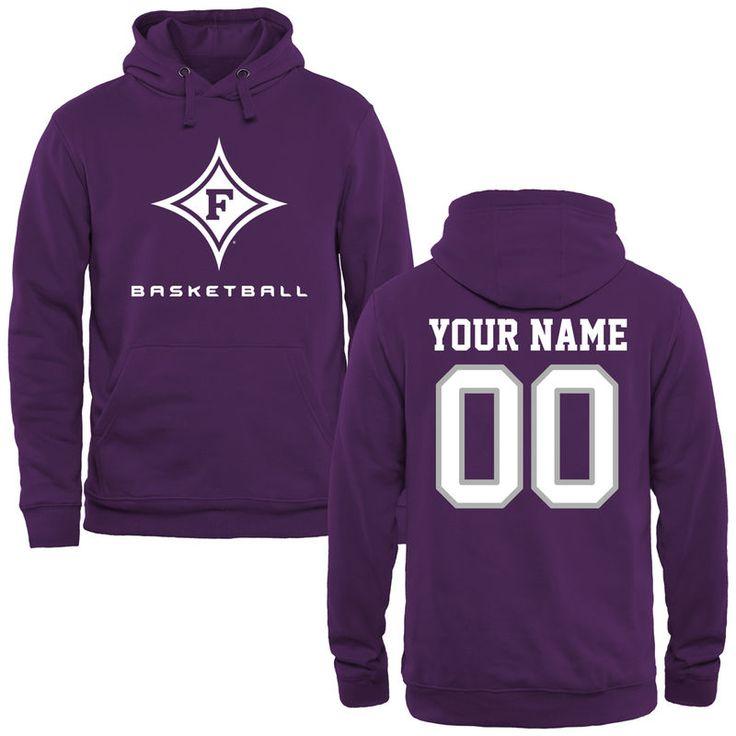 Furman Paladins Personalized Basketball Pullover Hoodie - Purple