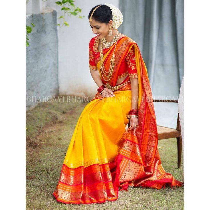 Shopzters | Bhargavi Kunam - Defining Elegance With Her Kanjeevaram Silk Saree Collection