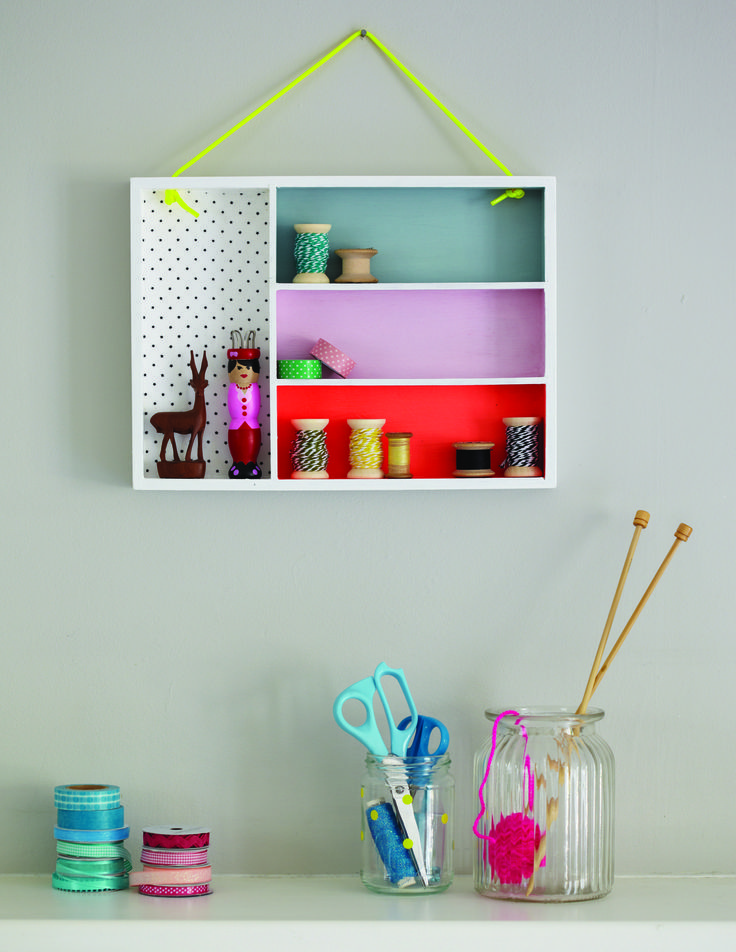 Wall box project from Pretty organised from Apple Press
