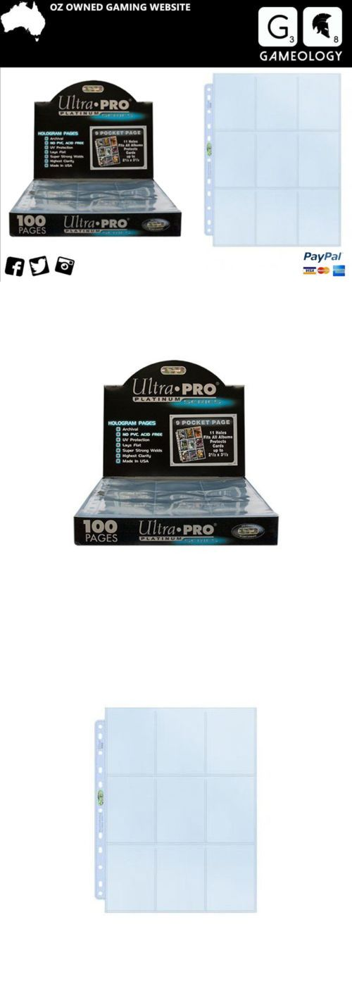 CCG Card Sleeves 183461: Ultra Pro Platinum Series Pokemon Magic Afl Trading Cards 9 Pocket Card Sleeves -> BUY IT NOW ONLY: $42.04 on eBay!