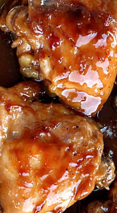 Sticky Teriyaki Baked Chicken Thighs ❊