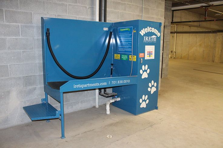 Tenants can utilize the pet washing station for their furry friends