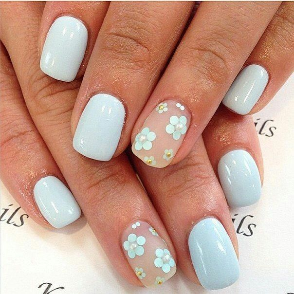 Best 25 light blue nails ideas on pinterest pastel blue nails spring nail arts prinsesfo Images