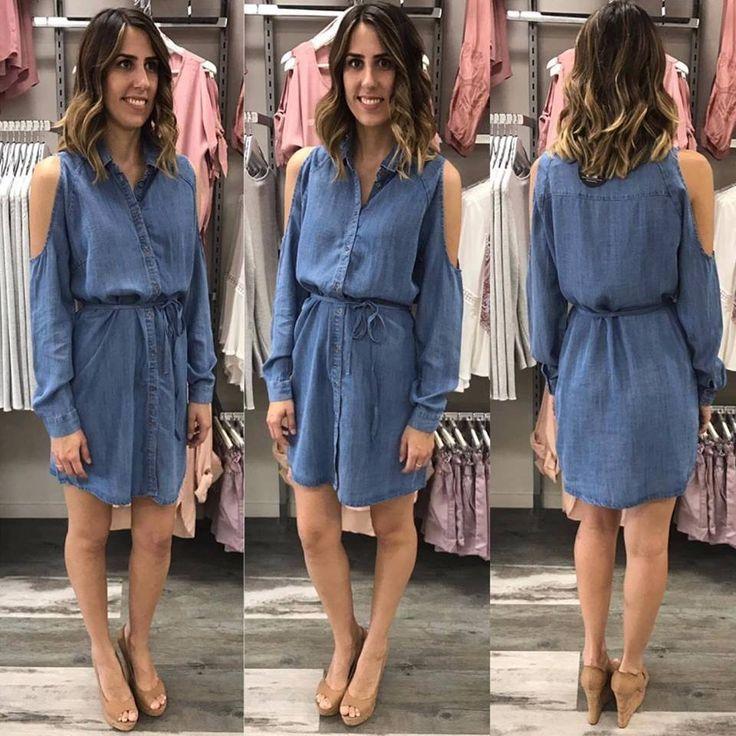 Bid Shirt Dress Chambray