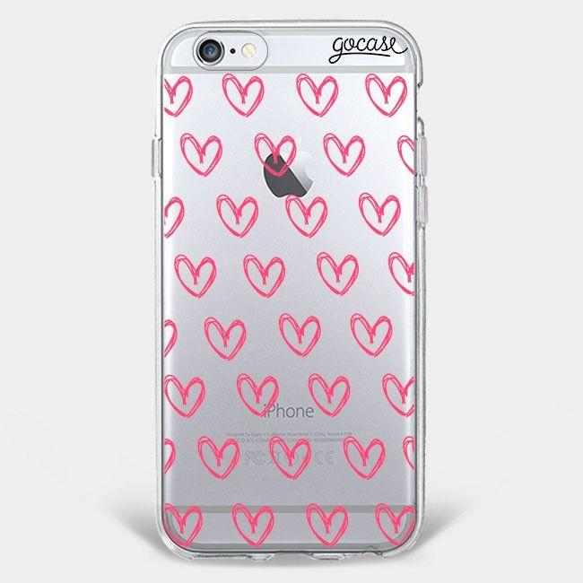 Capinhas para celular Corações Rosados
