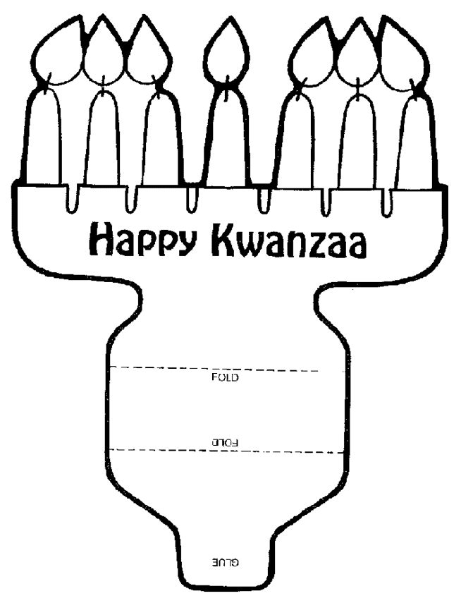 Happy Kwanza cutout