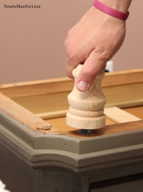 how to add legs to night stand