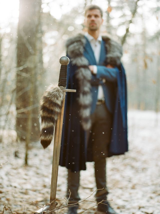 Game of Thrones groom | Warmphoto | see more on: http://burnettsboards.com/2015/02/winter-coming-game-thrones-wedding/