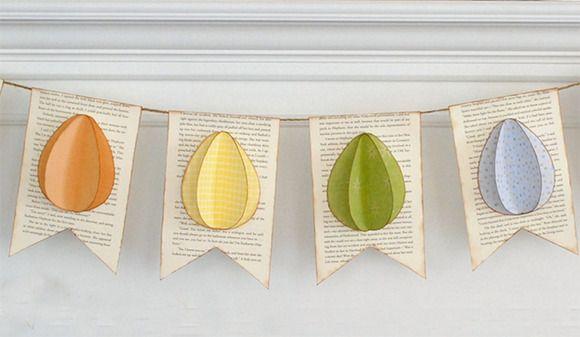 Guirnalda de papel para decorar la Pascua  http://charhadas.com/ideas/31135-guirnalda-de-papel-para-decorar-la-pascua