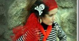 Disfraz casero de pirata para niña, sin coser. tutoriales para maquillajes disfraz