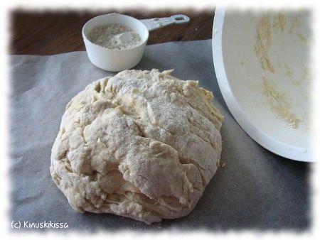 Kinuskikissan pizzataikina - toimii hyvin pizza monkey breadissa, itse lisäsin vähän jauhoja