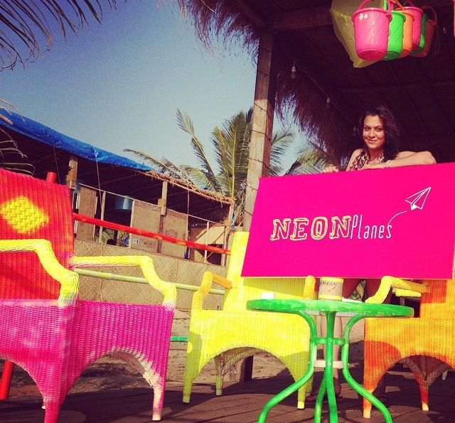 High Standard Hippie at the Neon Planes Store at Baxters Goa... Dec 2014