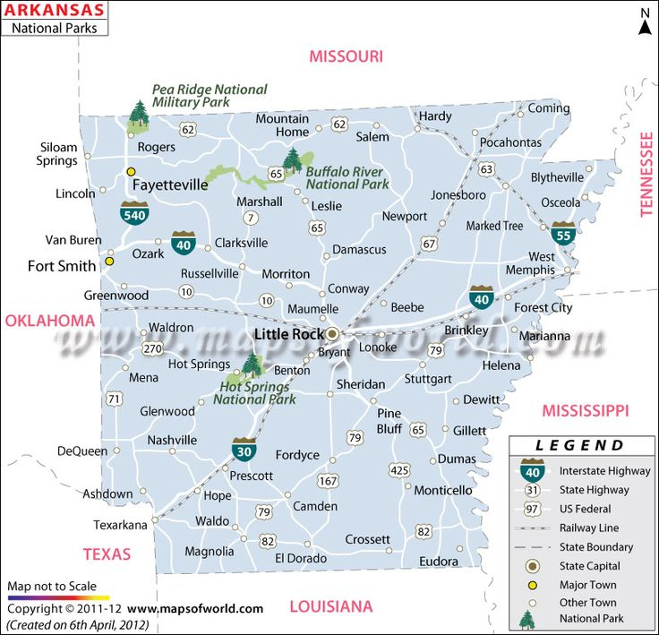 Best Usa National Parks Images On Pinterest Park In Usa - Arkansas map usa