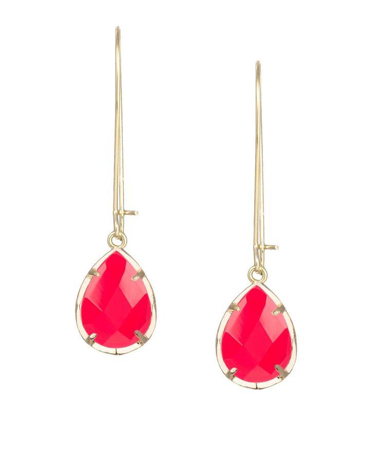 Dee Earrings in Bright Red - Kendra Scott Jewelry.