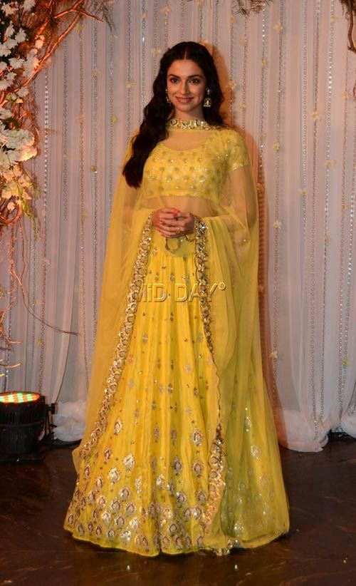 Divya Khosla Kumar at Bipasha Basu, Karan Singh Grover's wedding reception.