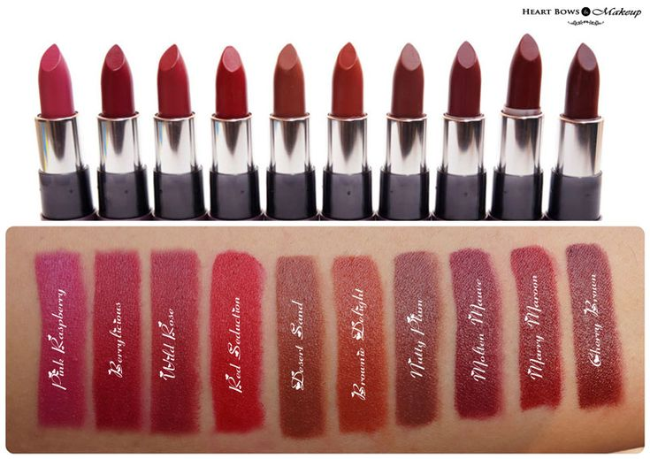 Oriflame The ONE Matte Lipstick Swatches & Review! http://www.heartbowsmakeup.com/oriflame-matte-lipstick-review-swatches-price-india/