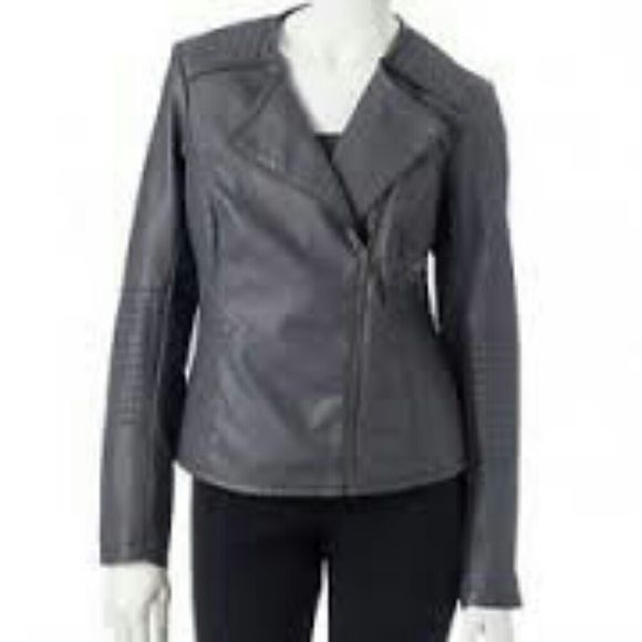 Apt. 9 Faux Leather Moto Motorcycle Jacket The jacket had only been worn  once.