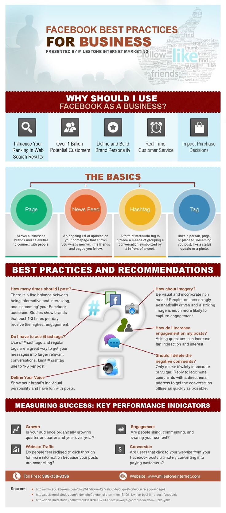 Have some new members on your social marketing team or just looking for a refresher on Facebook? Check out our infographic on best practices for business. http://blog.milestoneinternet.com/website-promotion/facebook-best-practices-for-business-infographic/