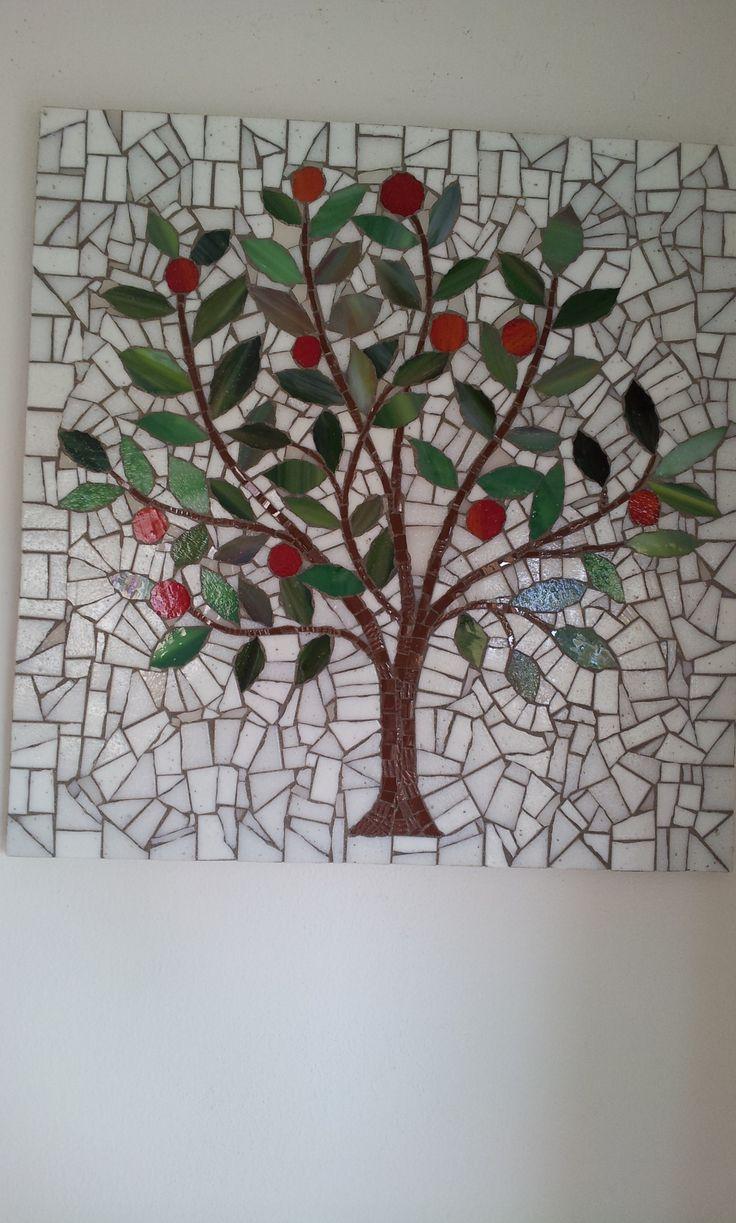 Arbre de vie mosaique mur en mosaique pinterest for Peinture mosaique