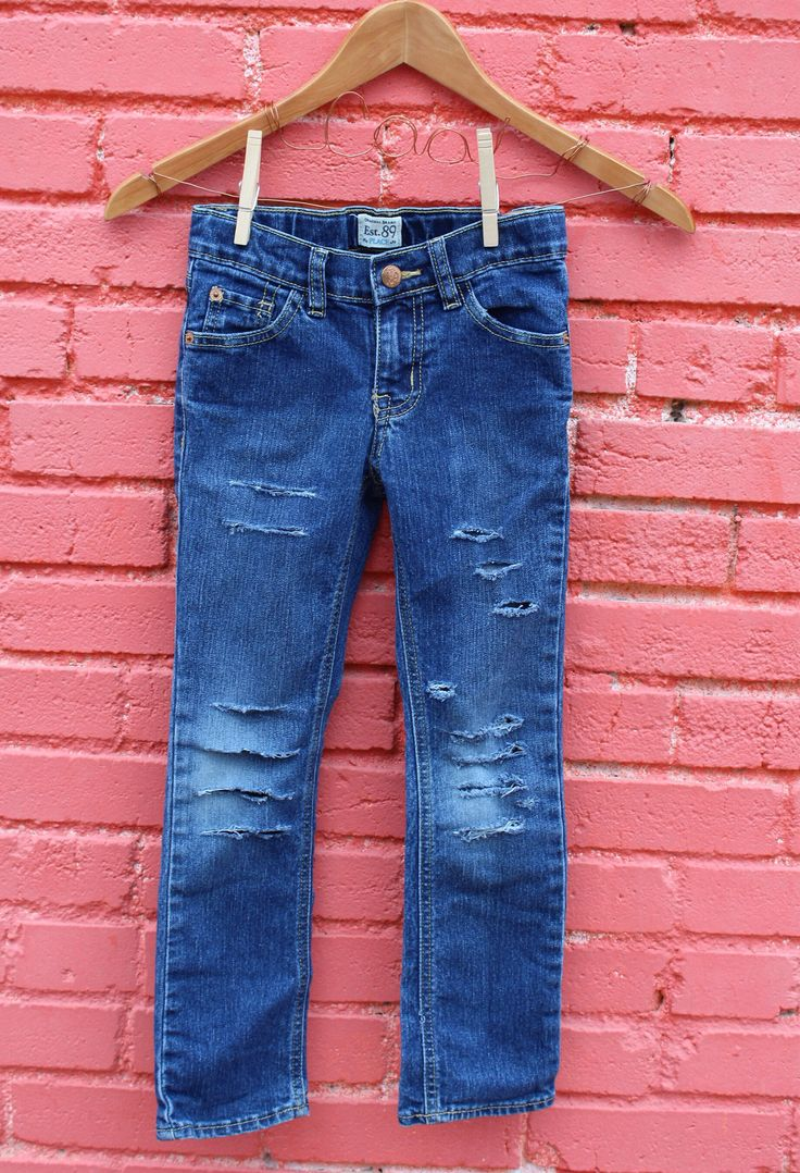 Excited to share the latest addition to my #etsy shop: Girls Jeans 6 Distressed Jeans Trendy Kids Clothes Ripped Jeans Distressed Denim Modern Kids Clothes Edgy Kids Clothes Toddler Jeans
