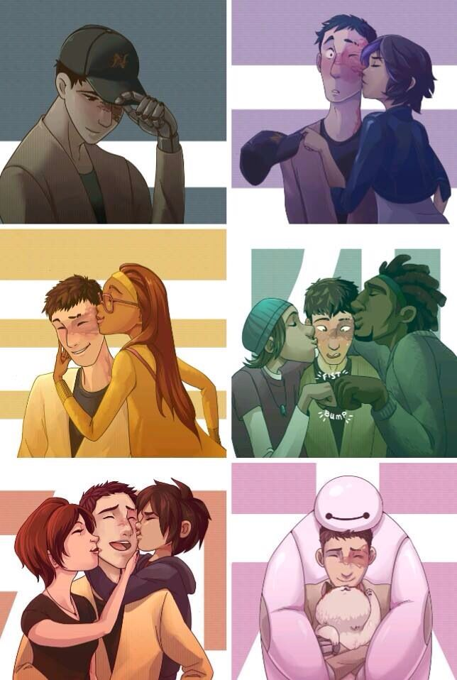 """i love his face when wasabi and fred kiss him like """"omgomgomgomg"""" he's just in shock and all blushy blushy and it's so cu t ee"""