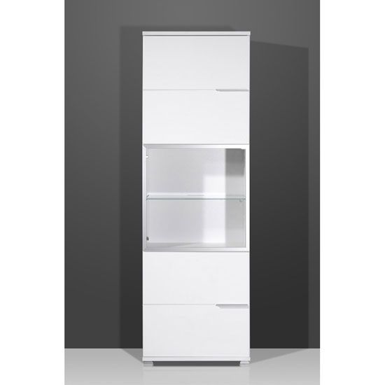 425 Nevada Gloss White 2 Door Tall Entertainment Cabinet This Modern Tall Cabinet From The