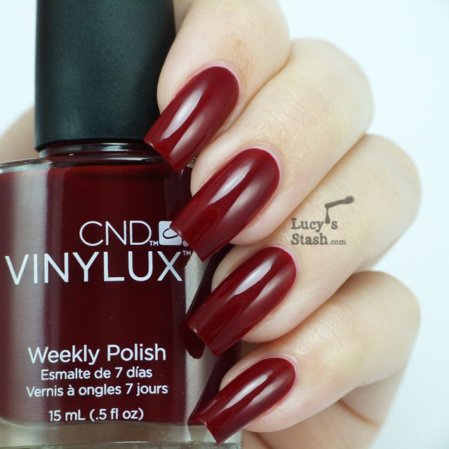 Cnd Vinylux Decadence Oxblood Red♡ Pinterest