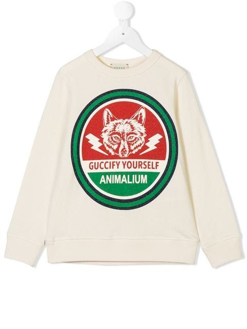 22fe3bf9 Gucci Kids Guccify Yourself sweatshirt £155 - Shop SS19 Online - Fast  Delivery, Free Returns