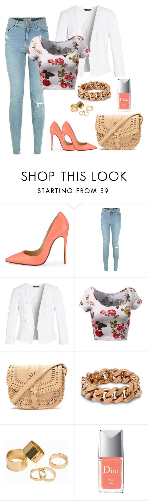 """""""..."""" by sylver-fang on Polyvore featuring Christian Louboutin, White House Black Market, Forever 21, STELLA McCARTNEY, Pieces, Christian Dior, women's clothing, women, female and woman"""