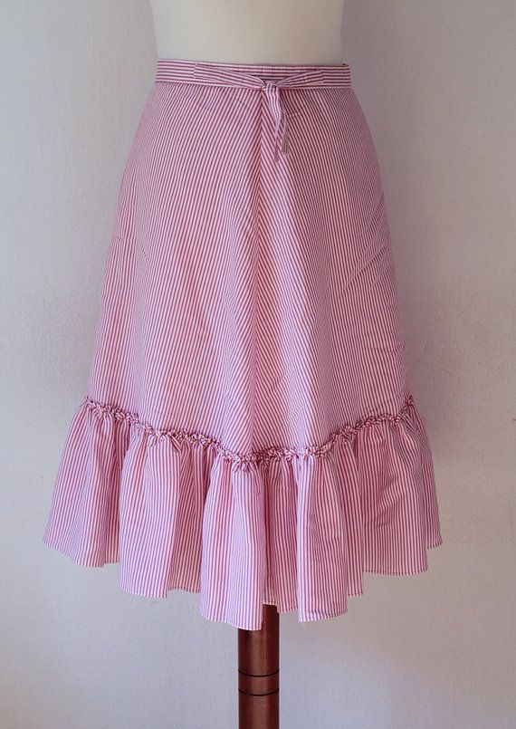 Vintage Skirt 1980's Pink Skirt with by PaperdollVintageShop