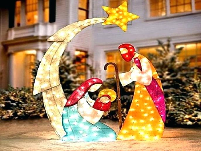 Plastic Outdoor Nativity Sets Plastic Outdoor Nativity Scene Lighted Out Walmart Christmas Decorations Outside Christmas Decorations Christmas Yard Decorations