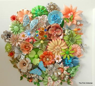 5a21c9f7526 Vintage Enamel Brooch Lot-50pc Spring Mix Flower Power BOLD 3-D dimensional    Vintage Flower Power   Brooch, Brooch bouquets, Vintage pins