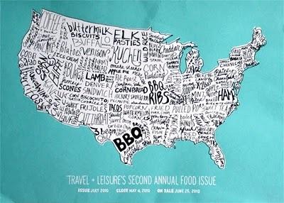 Wall art.: Wall Art, Bbq Ribs, Local Food, American Food, Kitchens Art, Travel Leisure, Graphics Design, Food Maps, Dreams Destinations