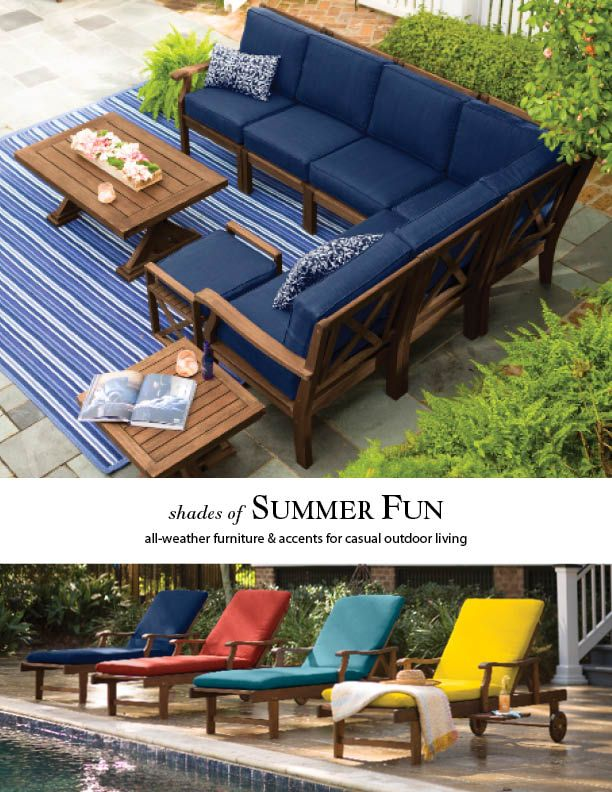 Outdoor Living With Claremont Collection All Weather Wood Furniture And Accessories For The Patio