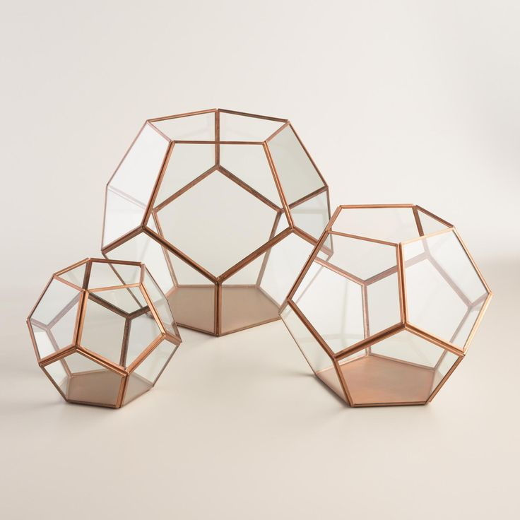 With panes of glass set against a metal frame, our faceted copper terrarium is an eye-catching display case or home for your terrarium plant. Use our moss filler and white ledge rocks for added natural appeal. www.worldmarket.com #CelebrateOutdoors