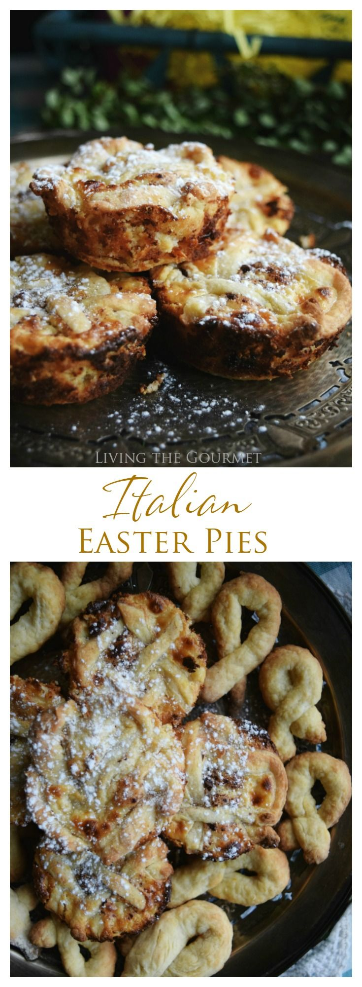 "Italian Easter Pies are a traditional dessert made of a sweet whipped ricotta filling that's baked over a flaky crust! While I am a fervent classicalist, perhaps one of my favorite lines of dialogue comes from the movie Blade Runner, specifically Roy Batty's brief exchange at the end of the film, which ran ""I've seen..."