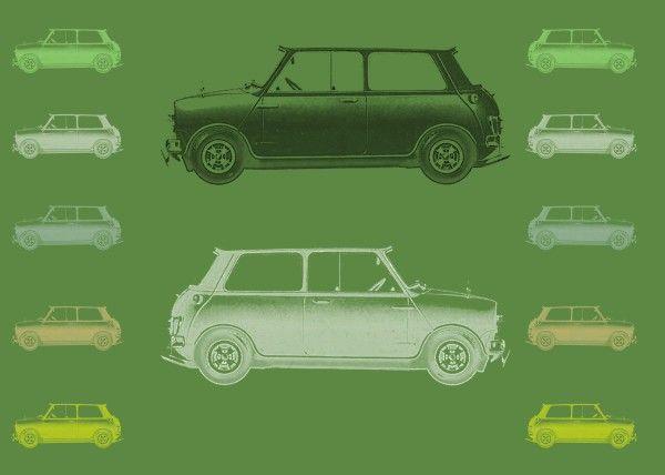 Mini Race Poster by Emily Pigou #mini #cooper #car #green #race #home #retro #pop #poster #displate