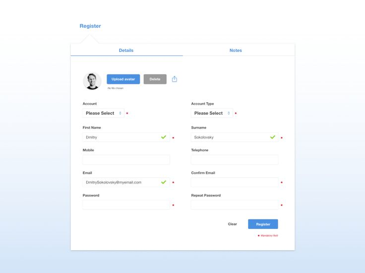 8 best UI - Forms \/ Login \/ Sign Up images on Pinterest Android - account form template