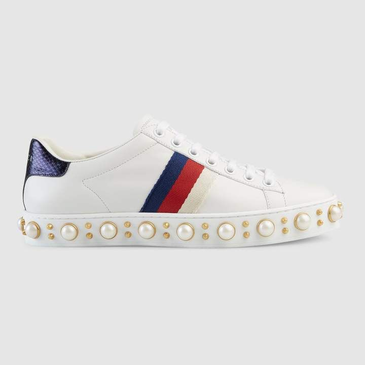 Gucci Ace Studded Sneaker Studded Sneakers Women Shoes Studded Shoes