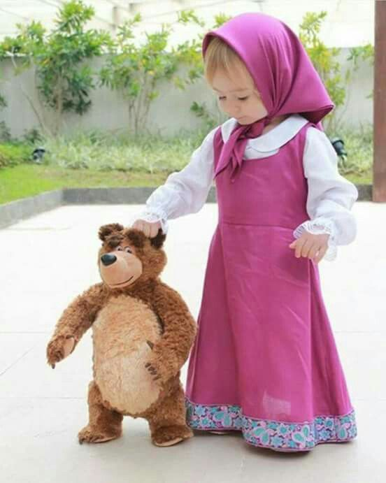 Masha and bear costume