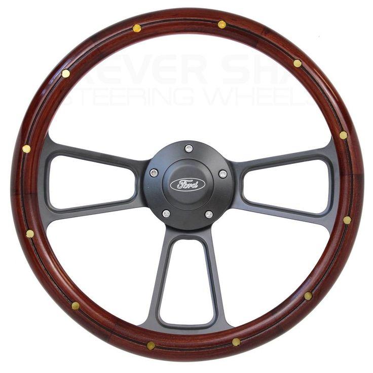 1975 1976 1977 Ford Bronco Real Mahogany/Billet Steering Wheel Full Install Kit   eBay Motors, Parts & Accessories, Car & Truck Parts   eBay!
