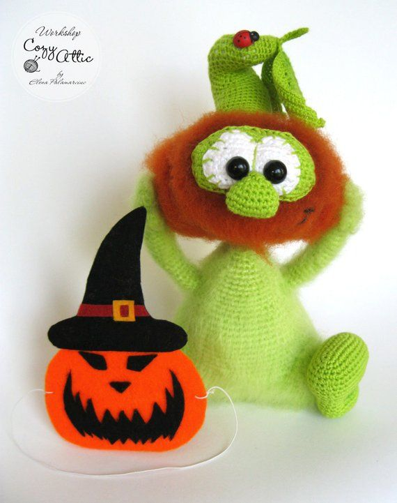 931082c04d8 Crochet pumpkin toy Halloween decoration Stuffed toys Thanksgiving ...
