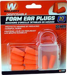 GSM LLC Walkers Foam Ear Plugs, 10P