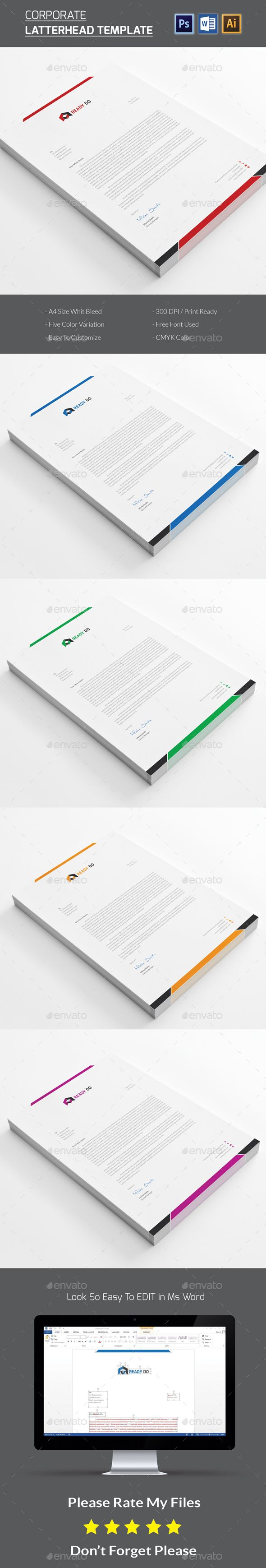 80 best letterhead design templates images on pinterest contact letterhead spiritdancerdesigns Gallery